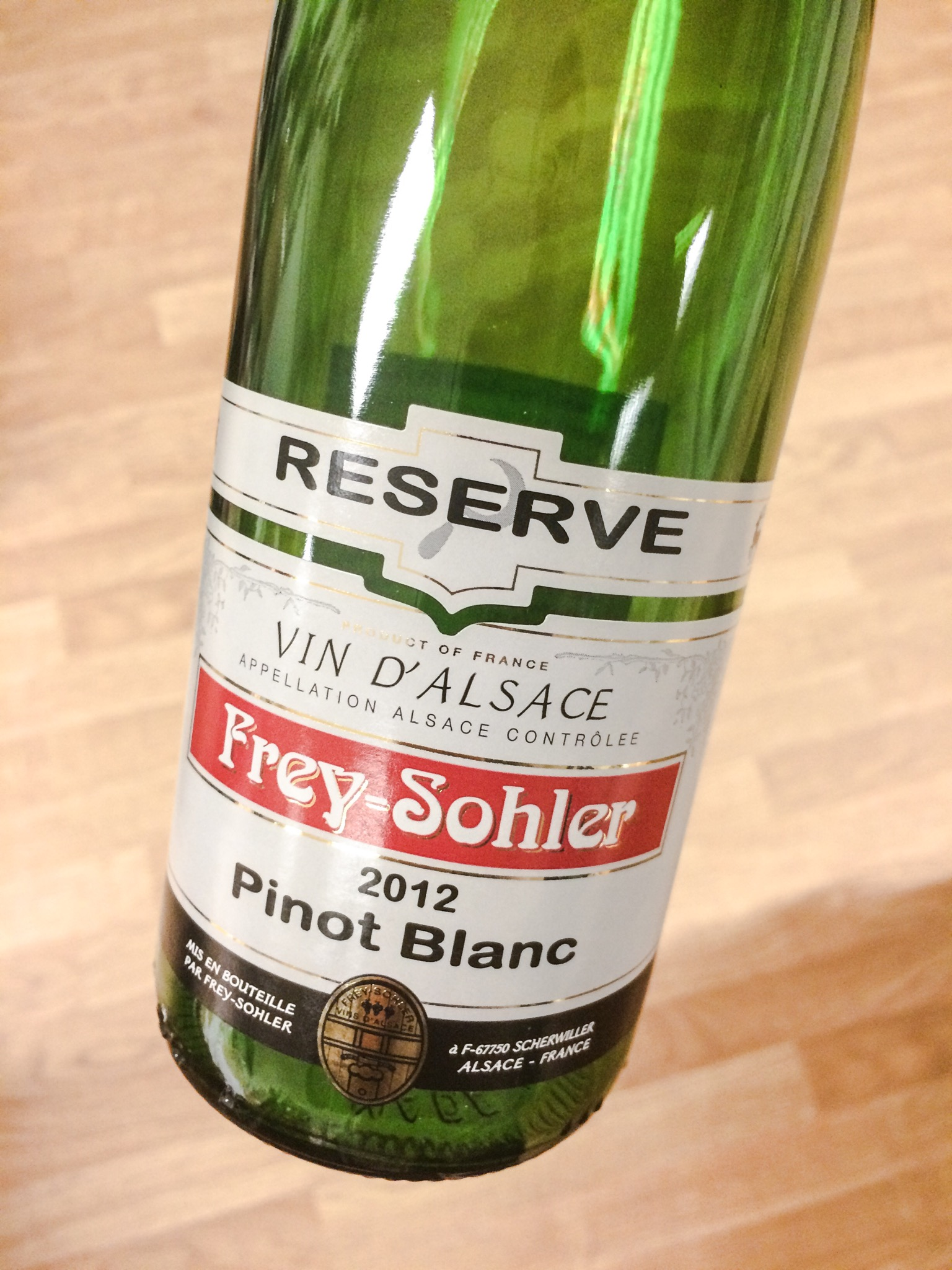 Frey-Sohler Reserve Pinot Blanc, 2012