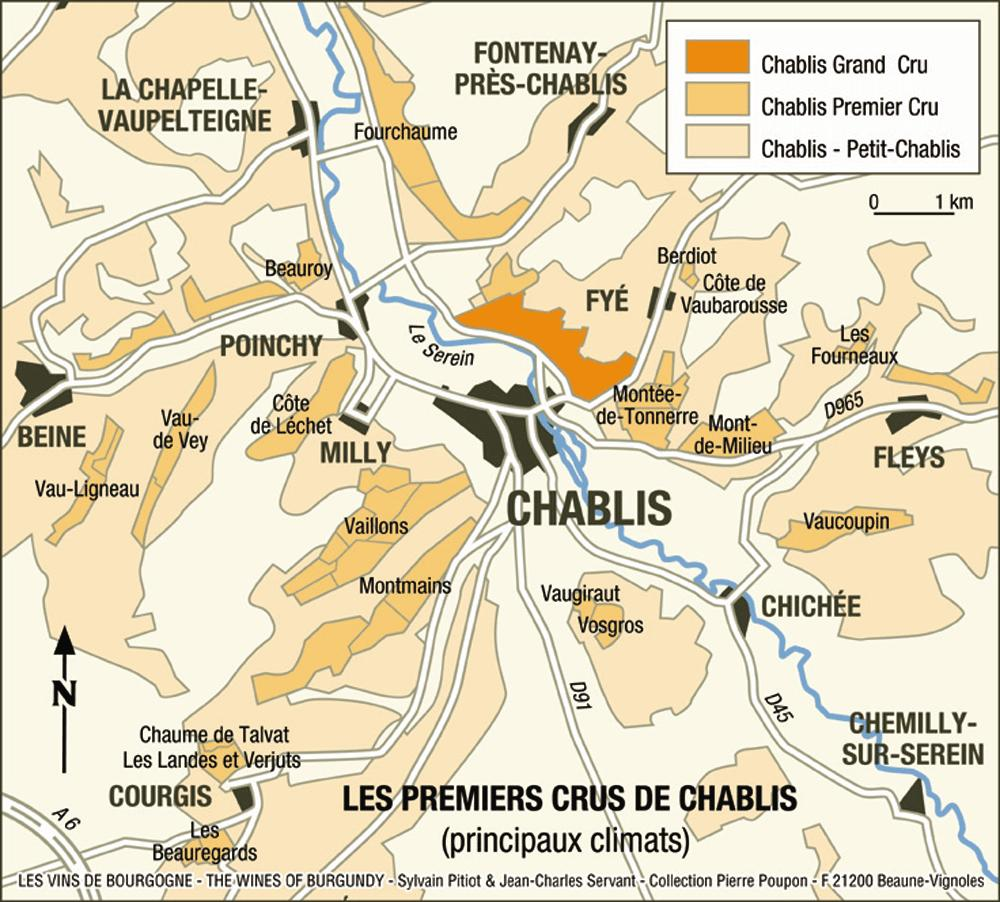 Karta över Chablis