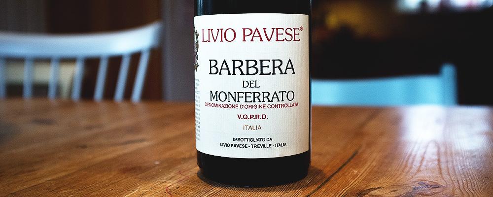 Barbera del Monferrato Livio Pavese, 2010