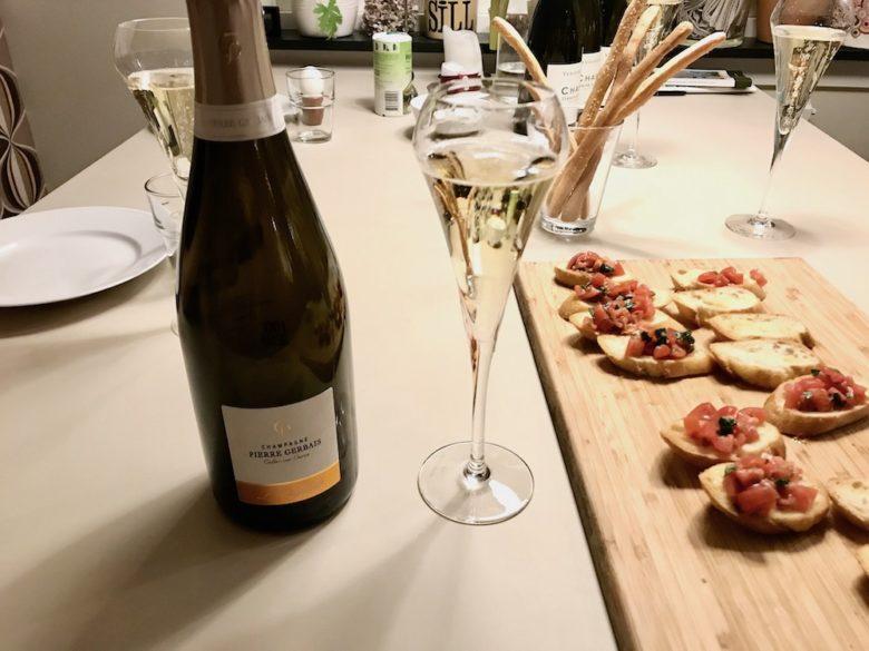 Champagne och snittar